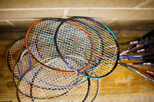 Badminton rackets (c) image by - ashworthphotography.co.uk
