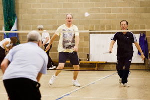 Badminton played at a Mature & Active session (c) image by - ashworthphotography.co.uk