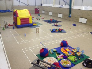 The Sports Centre set up for a soft play session (c) Burwellsports.co.uk